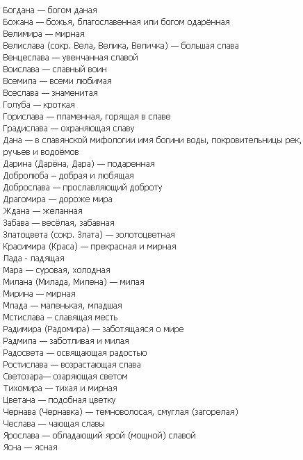 DogNames.ru - кличка для собаки в честь славянских имен